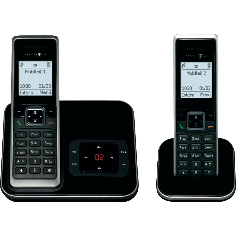T-SINUS A205 Duo Schnurlos Telefon Anrufbeantworter 2 ...
