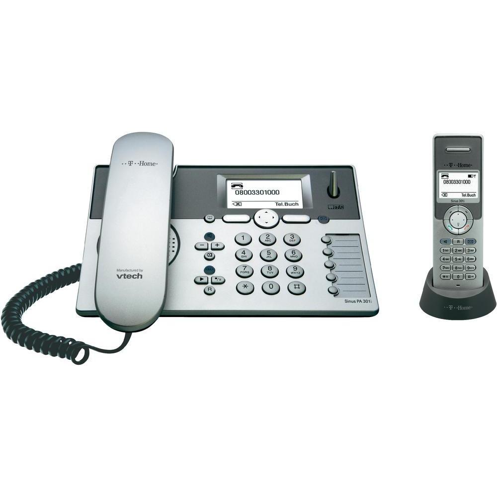 t sinus pa301i isdn schnurlos telefon mit anrufbeantworter und tischtelefon ebay. Black Bedroom Furniture Sets. Home Design Ideas
