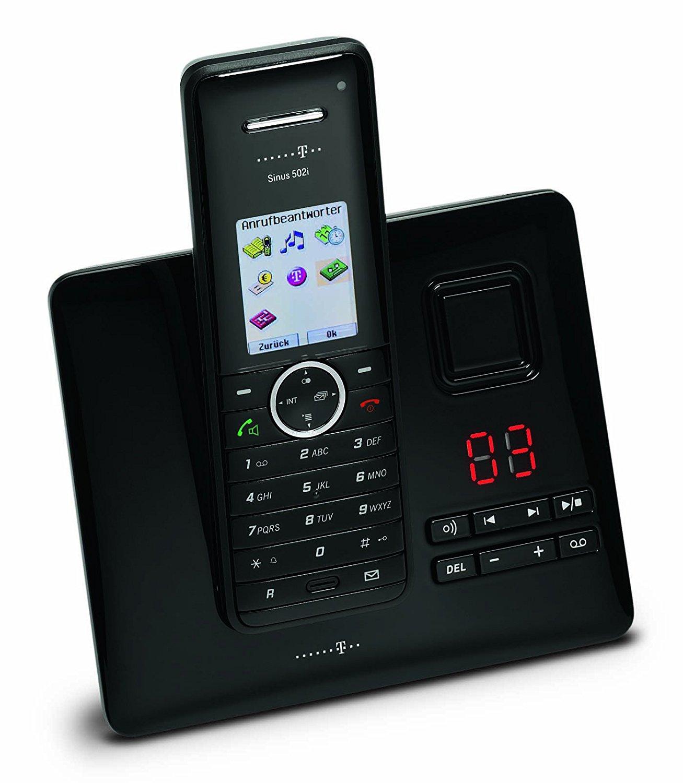 telekom sinus a502i isdn schnurlos telefon mit anrufbeantworter schnurloses dect ebay. Black Bedroom Furniture Sets. Home Design Ideas