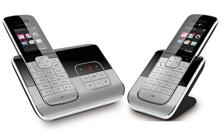 telekom sinus a806 duo schnurlos telefon mit 2 mobilteilen. Black Bedroom Furniture Sets. Home Design Ideas